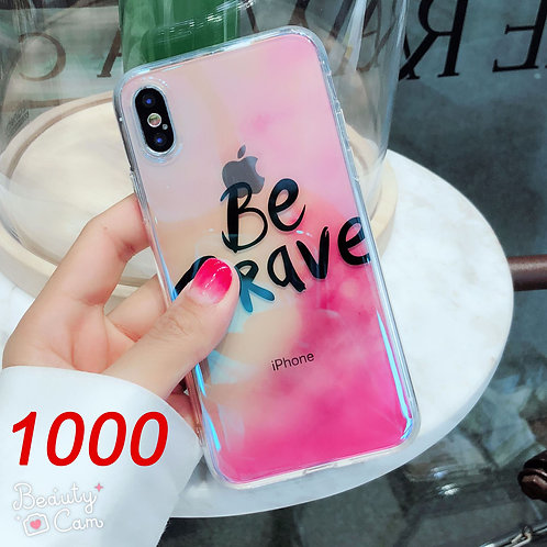 iPhone 6/7/X tpu soft case with laser cartoon pattern 1000 1001
