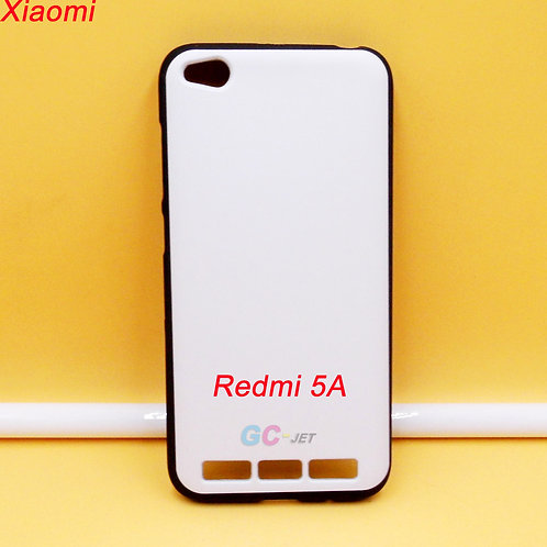 Xiaomi Redmi 5A tpu phone case flexible printable black with white back