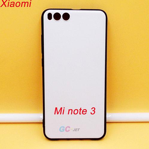 Xiaomi Mi note 3 printable tpu phone case black side white back