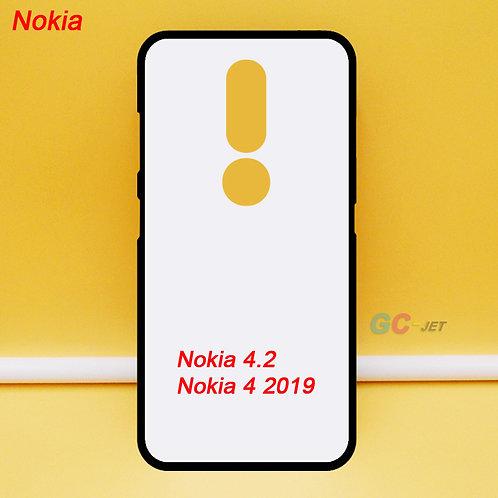 Nokia 4.2 / Nokia 4 2019 soft mobile phone case ,tpu ,printable ,white coating