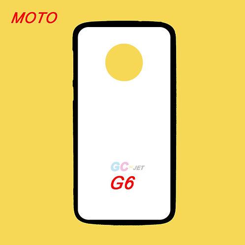 MOTO G6 tpu black phone cover printable blanks with white coating