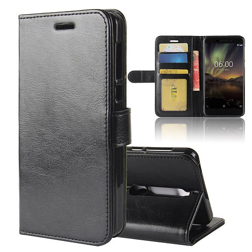 Leather wallet case for Nokia for diy custom printing