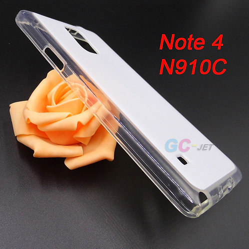 Samsung Galaxy Note 4 transparent edge case with white coating surface