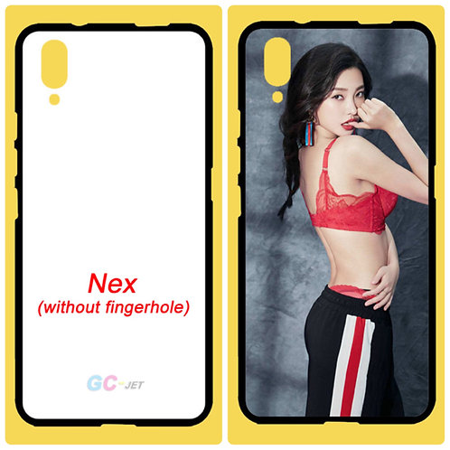 vivo Nex (without fingerhole) tpu mobile phone case with white printable back