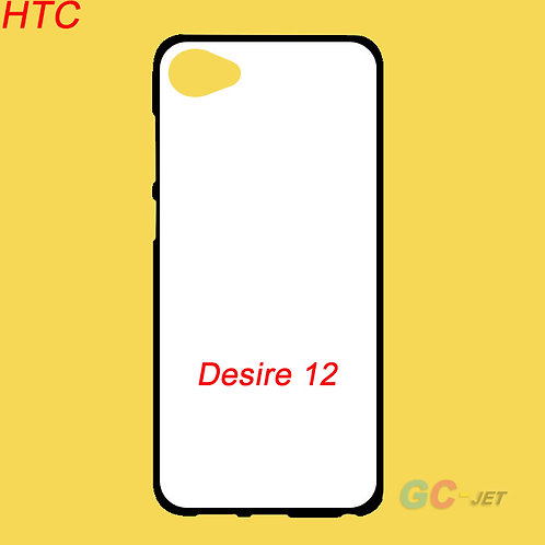HTC Desire 12 printable soft blank tpu mobile case with white coating