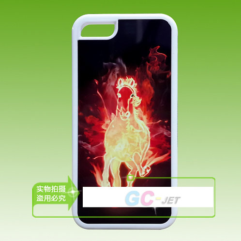 iPhone 5C blank 3d sublimation tpu flexible phone case for photo heating transfe