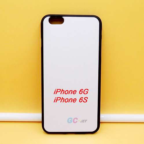 iPhone 6G / 6S black tpu soft phone case printable with white coating