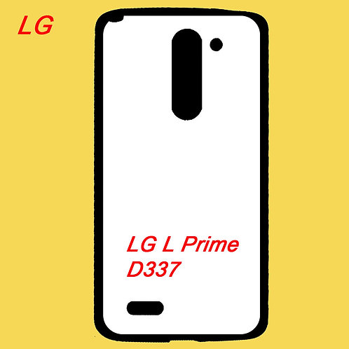 LG L Prime / D337 soft tpu phone case black printable with white coating