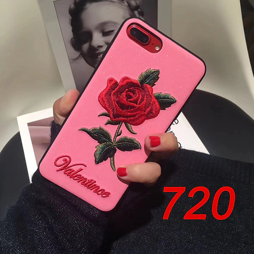 Embroidered pattern iPhone 6/78/X tpu soft case 720/721