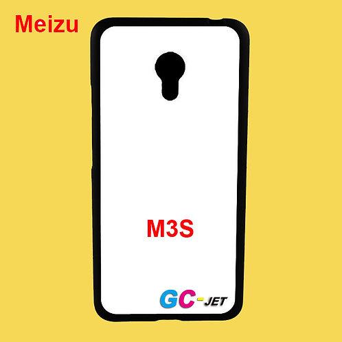 Meizu M3S black edge and white printable back tpu soft phone case