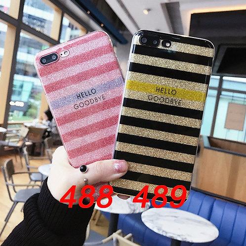iPhone shimmering powder soft tpu case 498/499