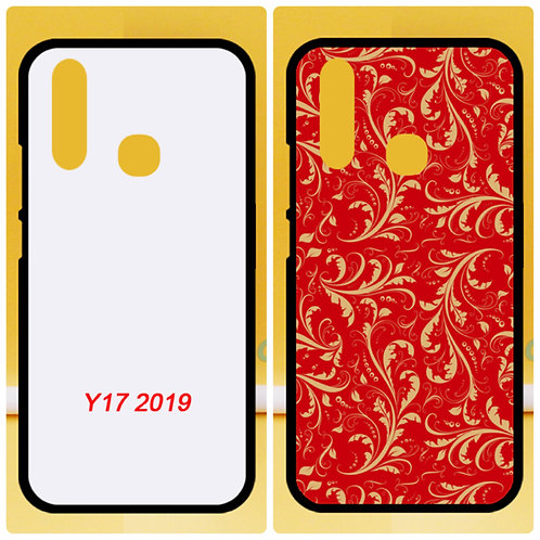 VIVO Y17 2019 flexible printable phone case with white coated back