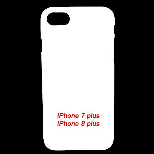 iPhone 7 / 8 plus  plastic white phone cover case for diy custom printing