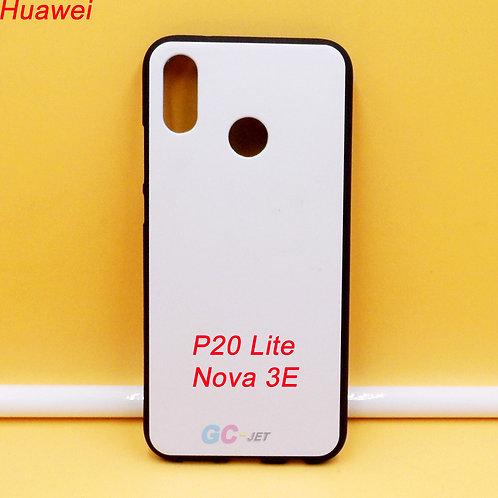 Huawei P20 Lite / NOVA 3E black side white back printable soft tpu phone case