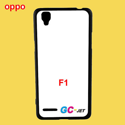 OPPO F1 printable black soft tpu phone case with white coated surface