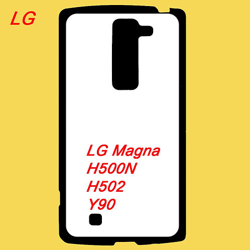 LG Magna / H500N / H502 / Y90 black tpu phone cover printable