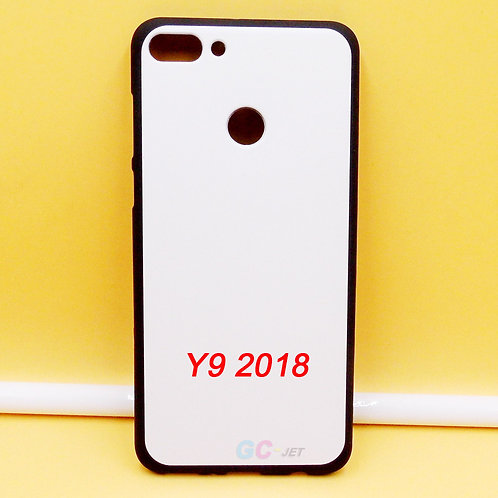 Huawei Y9 2018 printable black soft tpu phone case with white coating
