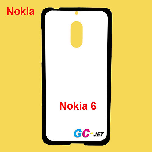 Nokia 6 soft tpu phone case with white printable coating