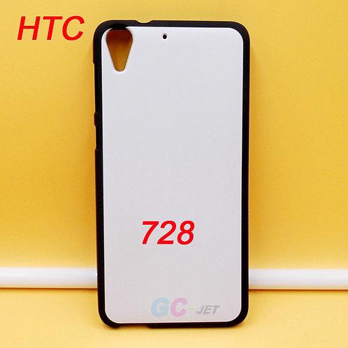 HTC Desire 728 black soft tpu phone cases for diy printing