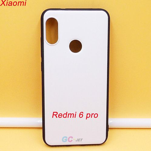 Redmi 6 pro black soft tpu cell phone case with white printable back