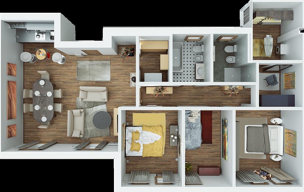 Planimetria del progetto degli interni