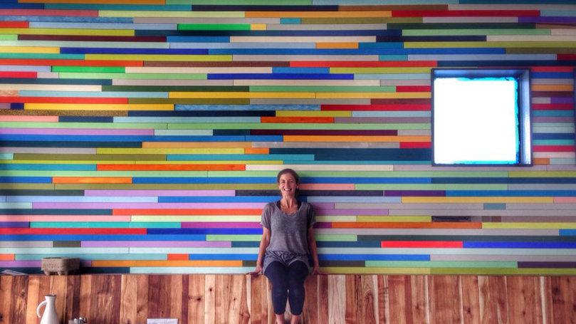 Pinhole Coffee Art Wall by Leah Rosenberg