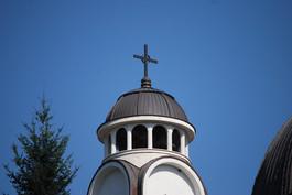 Купол на църква медна ламарина