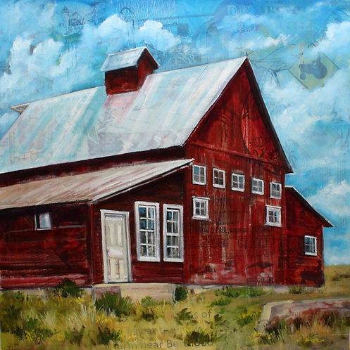 """Little Thompson Farm"" 12 x 12"