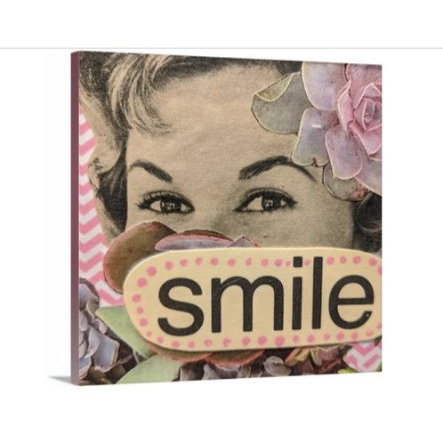 """Smile"" Canvas Print, 12 x 12"