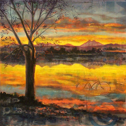 """Our Lake"" 24 x 24"