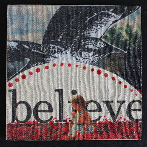 """Believe"" Art Magnet, 3 x 3"