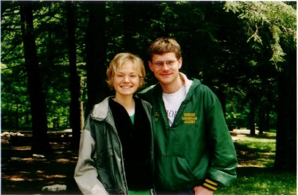 Tim and I, babies in high school!