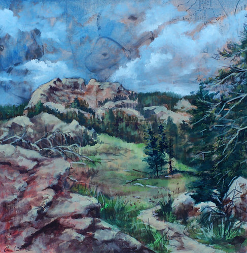 """Horsetooth Rock"" 12 x 12"