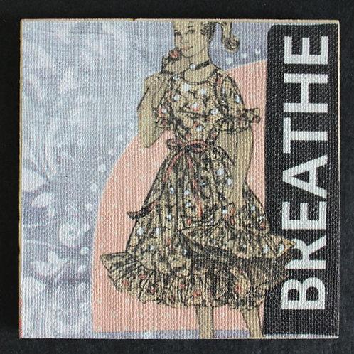 """Breathe"" Art Magnet, 3 x 3"