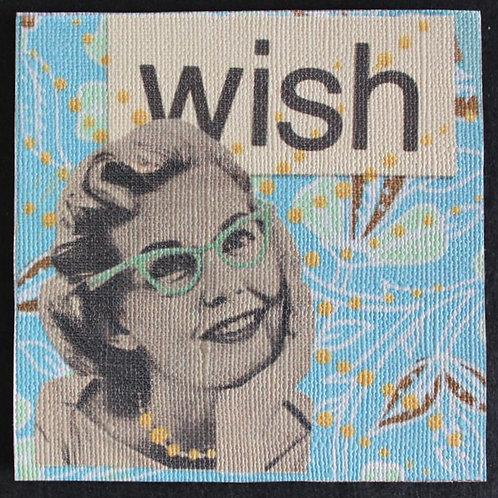 """Wish"" Art Magnet, 3 x 3"