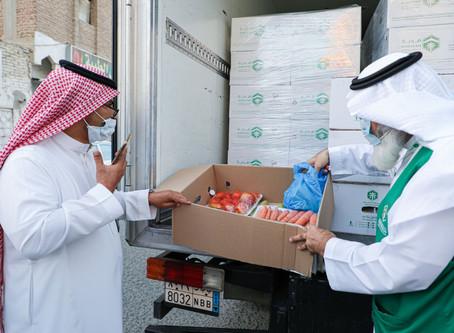"""توزيع 200 سلة من جمعية هدية بـ""""طندباوي مكة"""""""