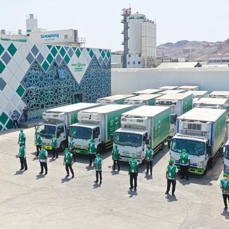 """""""هدية"""" تطلق قافلة الـ 20 ألف سلة رمضانية للأسر المحتاجة بمكة"""