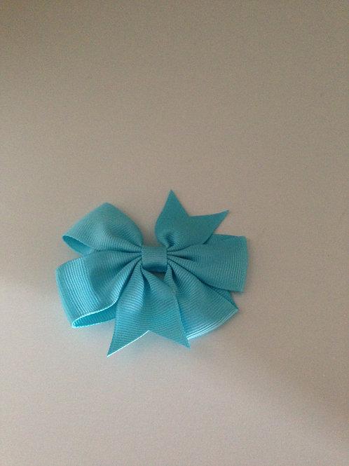 Haarstrik blauw 8 cm
