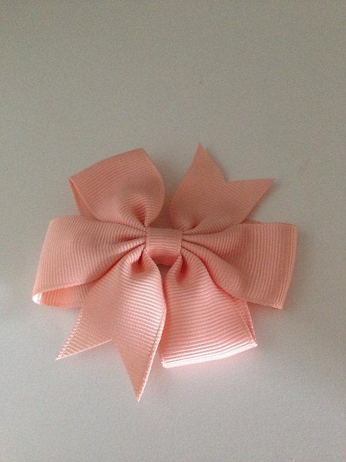 Haarstrik zalm roze 8 cm
