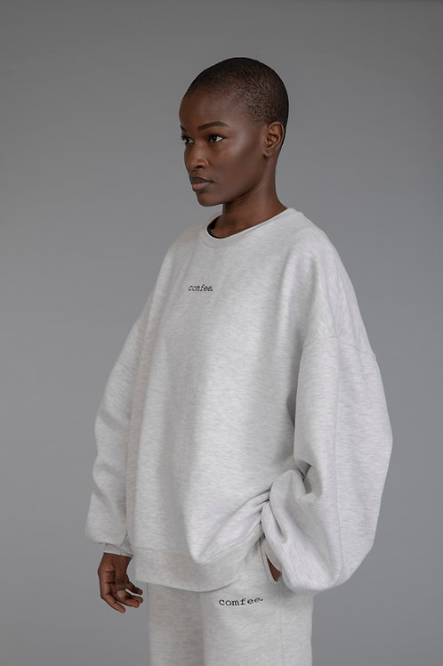 COMFEE. sweatshirt - light grey