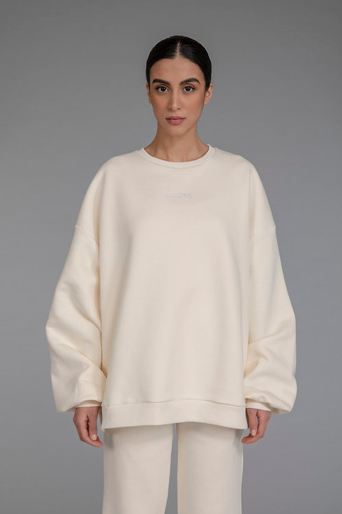 COMFEE. sweatshirt -  vanilla
