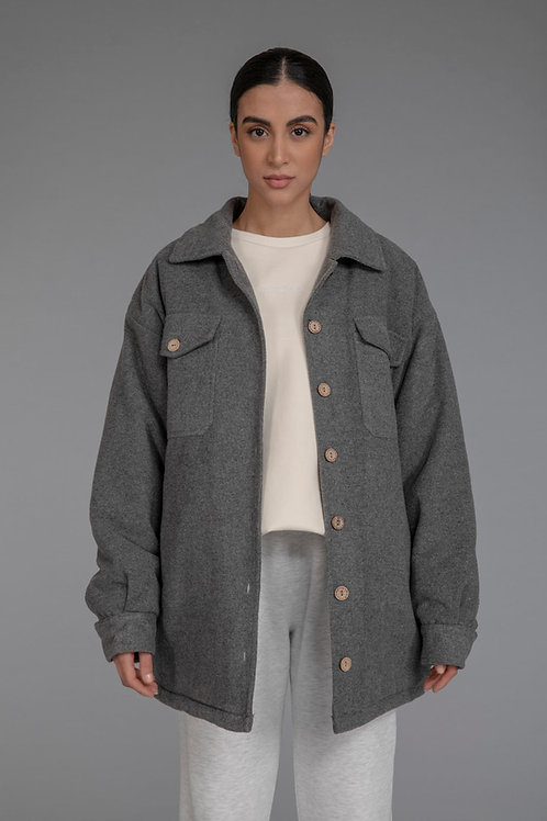 Oversized shacket - grey