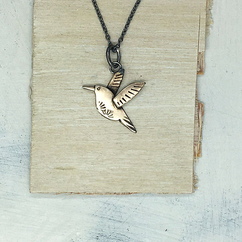 Hummingbird Pendant in bronze