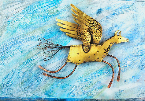 Flying Horse wall piece
