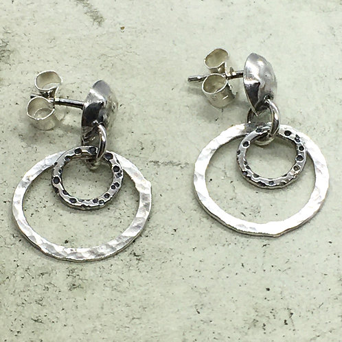 Silver ear stud XES05