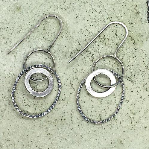 Drop earring in silver XER04