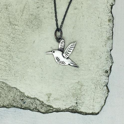 Hummingbird Pendant in silver