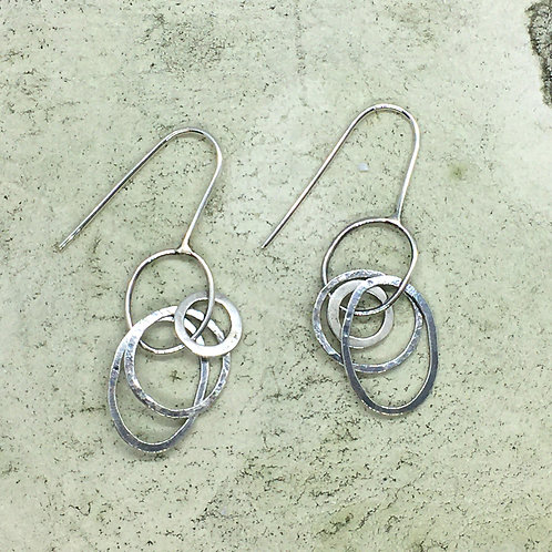 Drop earring in silver XER07