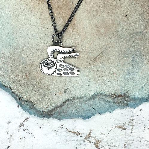 Owl pendant in silver