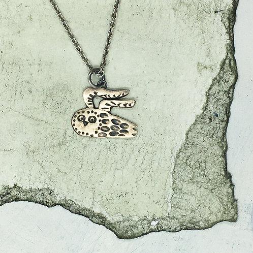 Owl pendant in bronze